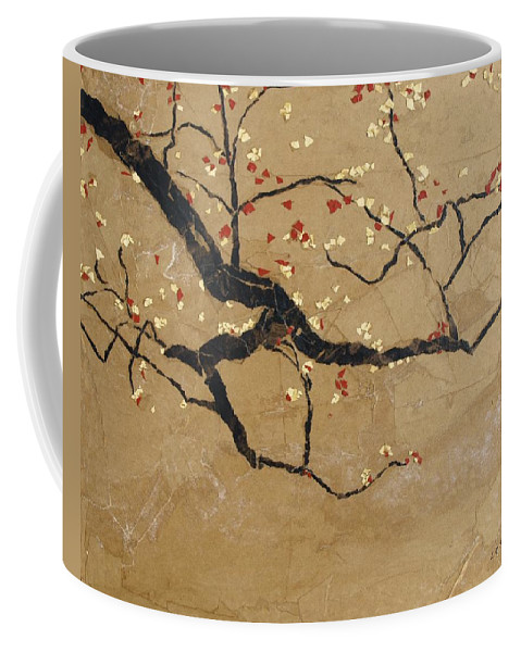 Blooming Branch Coffee Mug featuring the painting Branch by Leah Tomaino