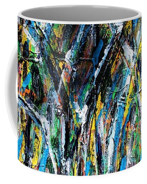 Blue Coffee Mug featuring the painting Bright Summer Day by Pam Roth O'Mara