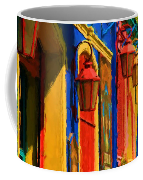 Buenos Aires Coffee Mug featuring the mixed media Buenos Aires by Asbjorn Lonvig