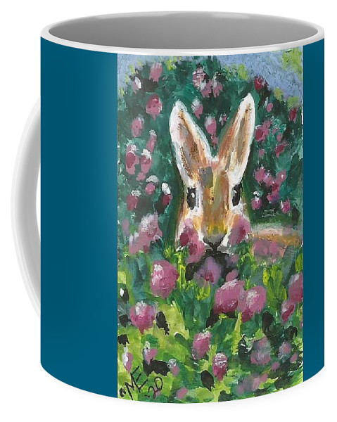 Bunny Painting Coffee Mug featuring the painting Bunny by Monica Resinger