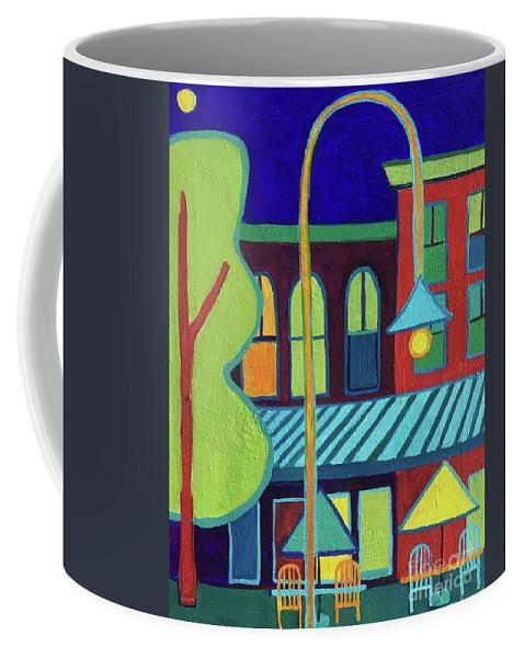 Vermont Coffee Mug featuring the painting Burlington VT street scene by Debra Bretton Robinson