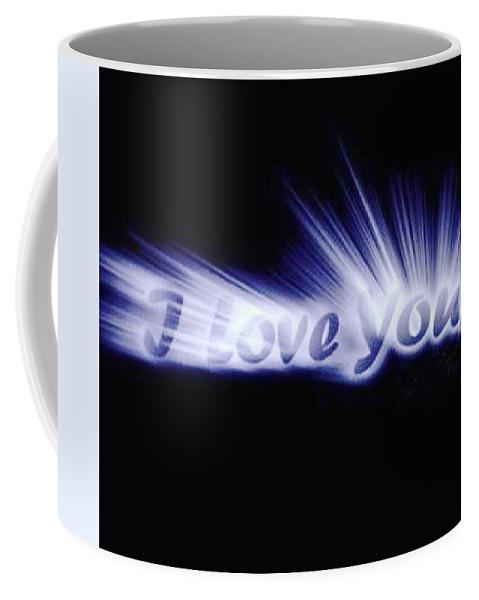 Love Coffee Mug featuring the digital art Burst Of Love by Ariana Torralba