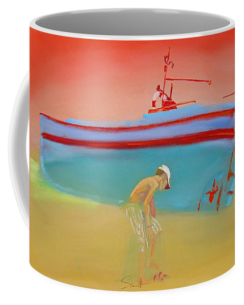 Boy Coffee Mug featuring the painting Cabin Boy by Charles Stuart