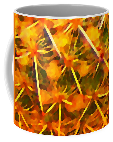 Abstract Coffee Mug featuring the painting Cactus Pattern by Amy Vangsgard