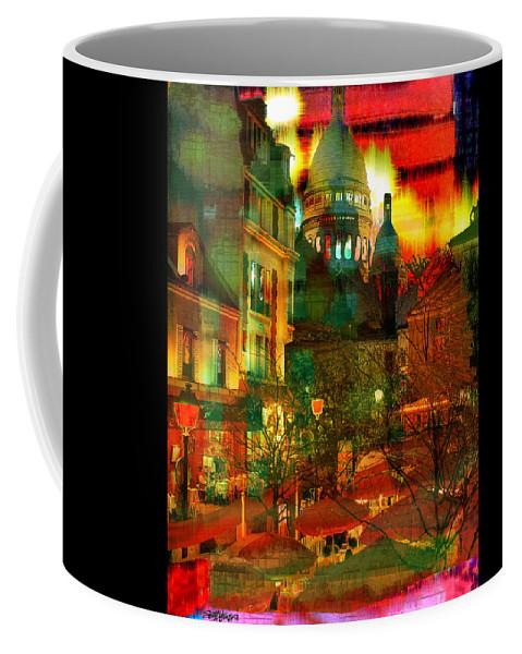 Paris Coffee Mug featuring the digital art Cafe Rue Morgue by Seth Weaver