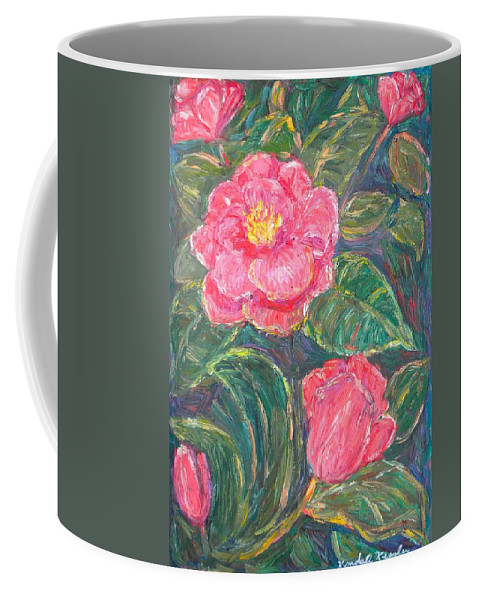 Impressionism Coffee Mug featuring the painting Camelias by Kendall Kessler