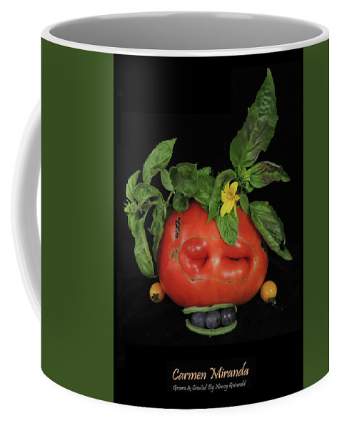 Vegetables Coffee Mug featuring the photograph Carmen Miranda Vegetable Art by Nancy Griswold