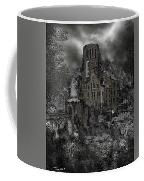 Castle Coffee Mug featuring the painting Casa Los Diavla by James Christopher Hill
