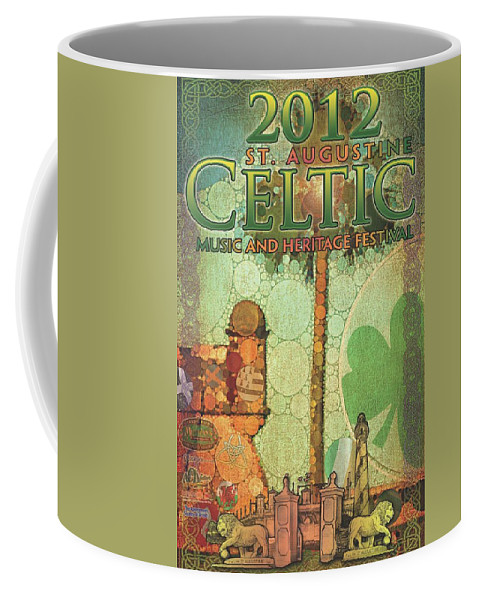 Poster Coffee Mug featuring the digital art Celtic Festival Poster by Scott Waters