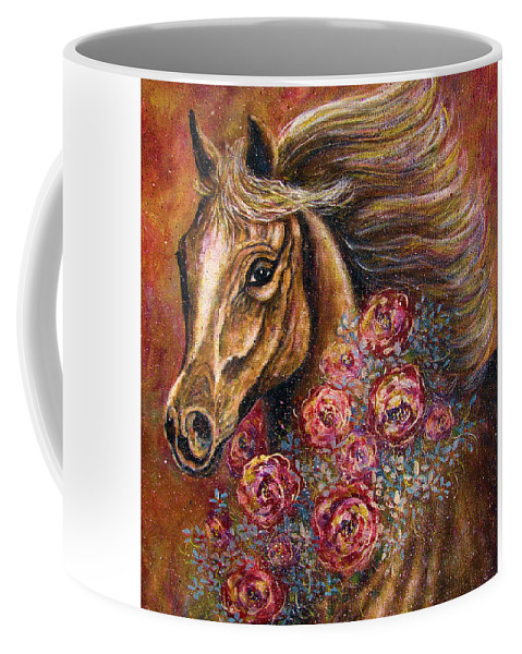 Horse Coffee Mug featuring the painting Champion by Natalie Holland