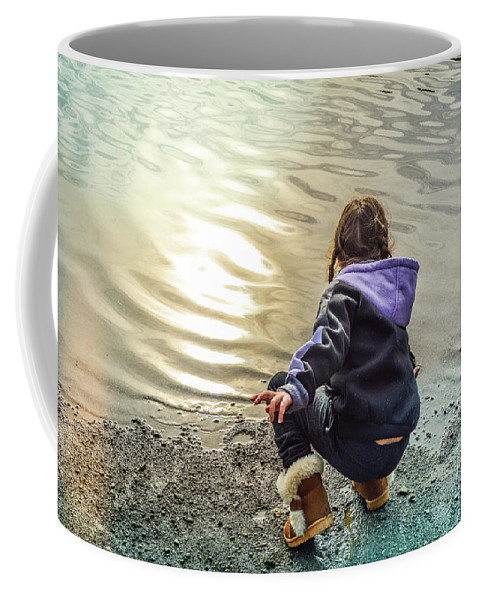 Child Coffee Mug featuring the photograph Chasing River Rainbows by Cindy Nunn