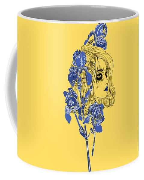 Digital Art Coffee Mug featuring the digital art China girl by Elly Provolo