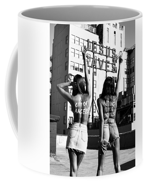 Coffee Mug featuring the photograph City of Angels by Brendan North