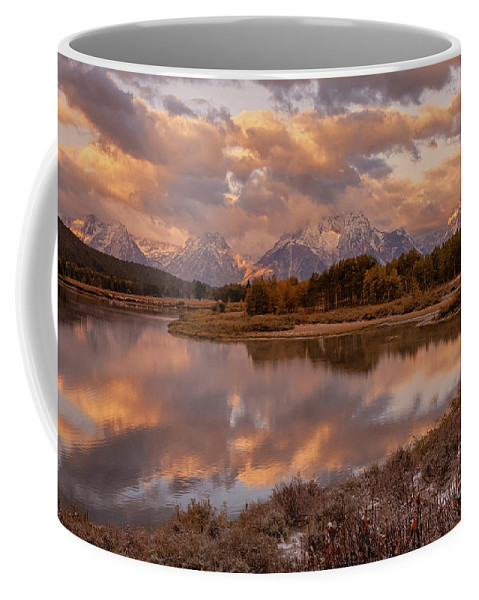 Landscape Coffee Mug featuring the photograph Clearing Storm at Oxbow Bend by Sandra Bronstein