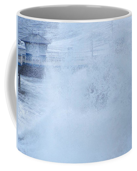 Waves Coffee Mug featuring the photograph Close one by Christopher Rowlands