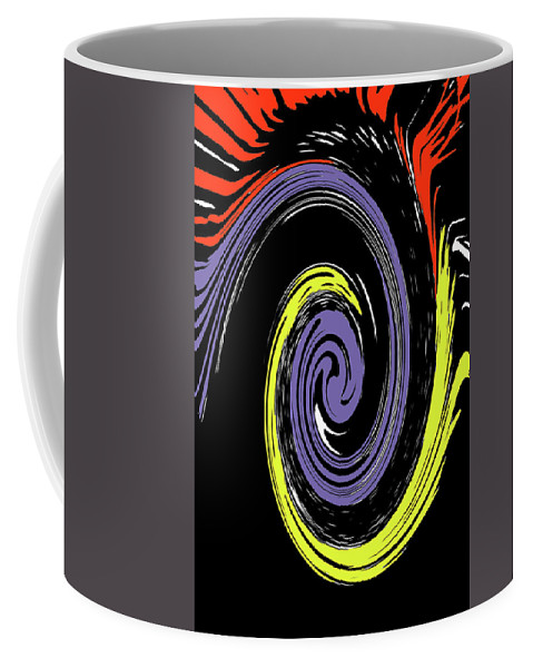 Abstract Coffee Mug featuring the photograph Colorful Swirl by Holly Morris