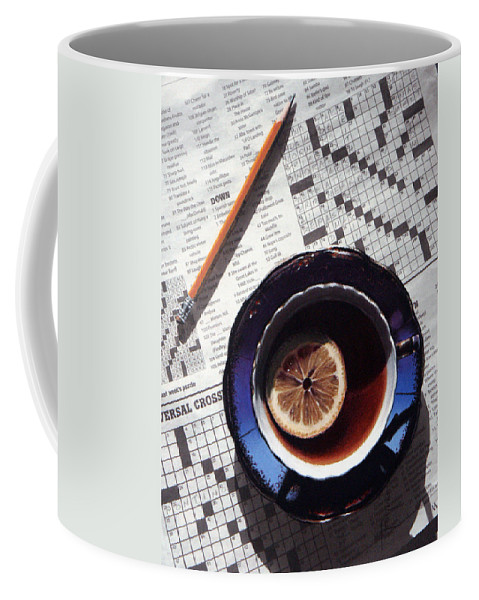Still Life Coffee Mug featuring the painting Crossword by Dianna Ponting