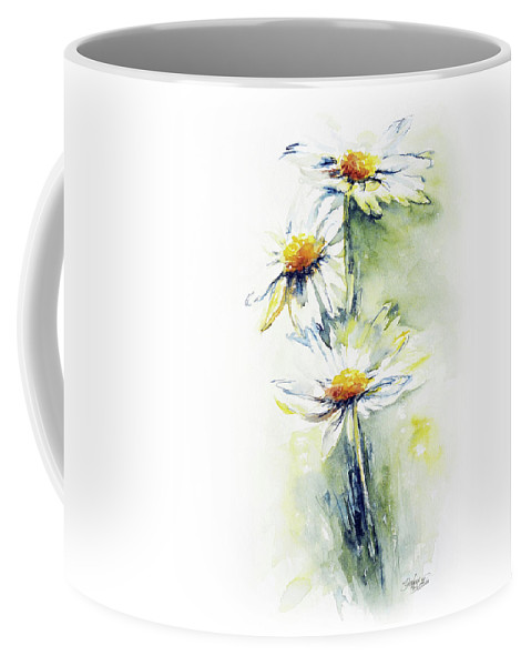 Flower Coffee Mug featuring the painting Daisy Chain by Stephie Butler