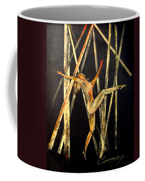 Female Coffee Mug featuring the painting Dancer in Light by Tom Conway