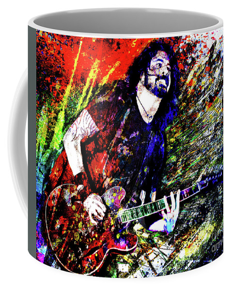 Dave Grohl Coffee Mug featuring the mixed media Dave Grohl Art by Ryan Rock Artist