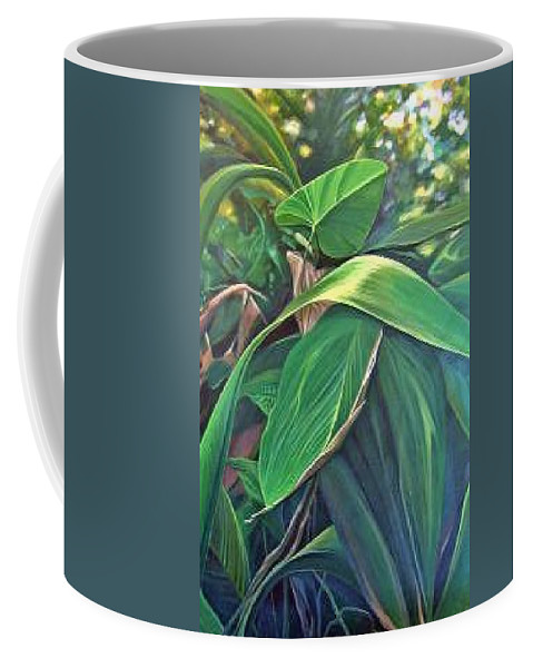 Barbados Coffee Mug featuring the painting Deep In Barbados by Hunter Jay