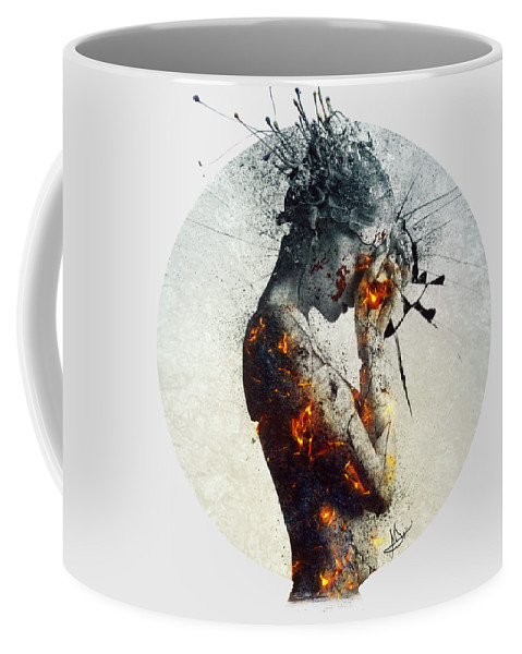 Deliberation Coffee Mug featuring the digital art Deliberation by Mario Sanchez Nevado
