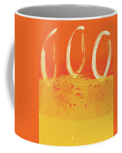 Abstract Coffee Mug featuring the painting Desert Sun by Linda Woods