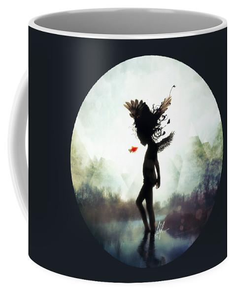 Digital Art Coffee Mug featuring the digital art Discovery by Mario Sanchez Nevado