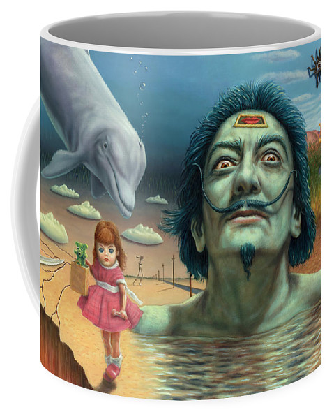 Salvador Coffee Mug featuring the painting Dolly in Dali-Land by James W Johnson