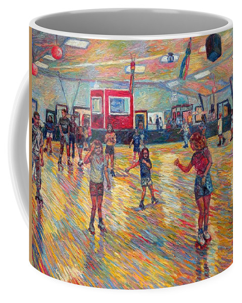 Figure Coffee Mug featuring the painting Dominion Skating Rink by Kendall Kessler