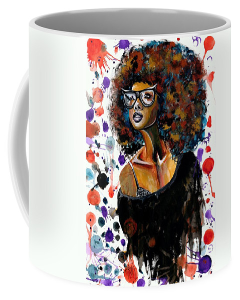 Sexy Coffee Mug featuring the painting Dope Chic by Artist RiA