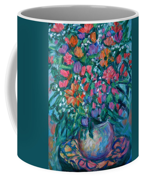 Floral Paintings Coffee Mug featuring the painting Dream Bouquet by Kendall Kessler