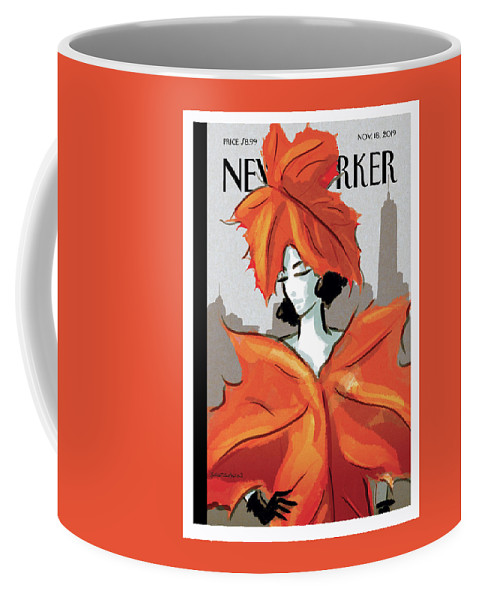 Dressing For Fall Coffee Mug featuring the painting Dressing For Fall by Birgit Schoessow