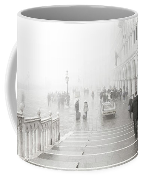 People Coffee Mug featuring the photograph Dsc0092 - People In The Fog, Venice by Marco Missiaja
