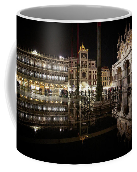 Art Coffee Mug featuring the photograph Dsc9434 - St Mark's Square By Night, Venice by Marco Missiaja