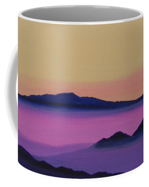 Mountains Coffee Mug featuring the painting Early Morning by Hunter Jay