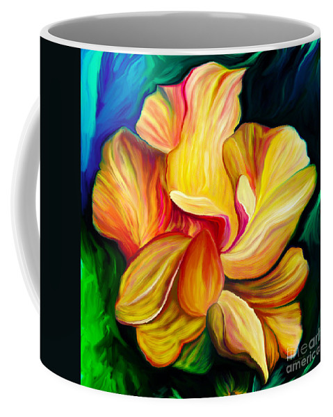 Hibiscus Painting Coffee Mug featuring the painting Emergence II by Patricia Griffin Brett