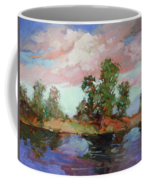 Plein Air Paintings Coffee Mug featuring the painting End of the Cottonwoods by Betty Jean Billups