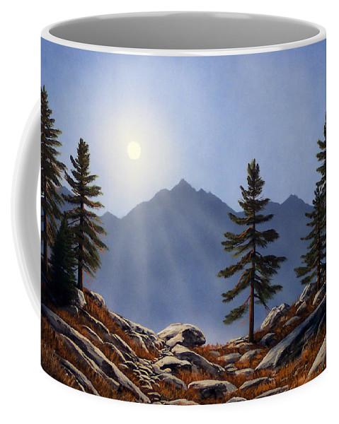 Evening Sun Coffee Mug featuring the painting Evening Sun by Frank Wilson