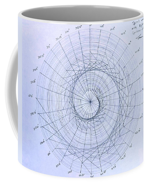 Spiral Coffee Mug featuring the drawing Expanding triangle by Jason Padgett