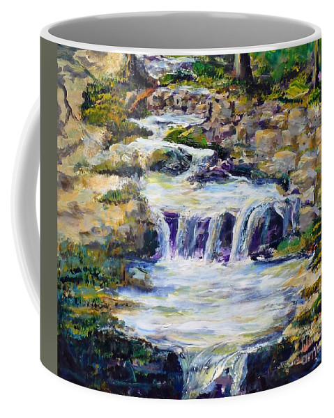 Los Angeles Coffee Mug featuring the painting Fern Dell Creek Noon by Randy Sprout