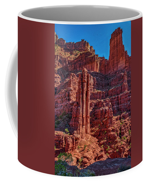 Moab 2020 Coffee Mug featuring the photograph Fisher Towers by Jim Thompson