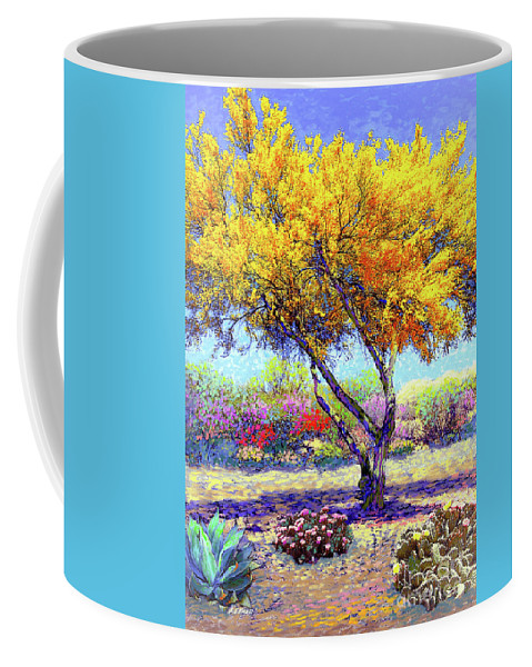 Landscape Coffee Mug featuring the painting Flowering Desert by Jane Small