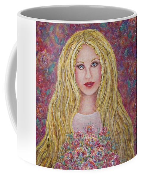 Figurative Art Coffee Mug featuring the painting Flowers For You by Natalie Holland