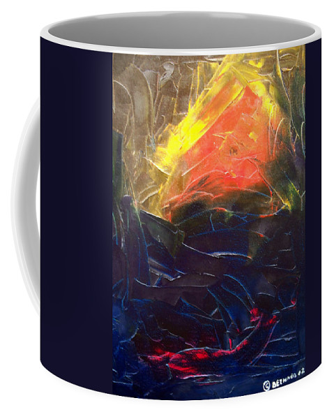 Duck Coffee Mug featuring the painting Forest .Part1 by Sergey Bezhinets