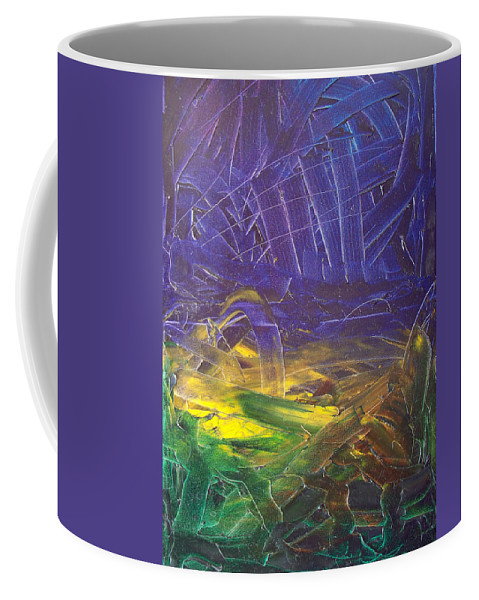 Painting Coffee Mug featuring the painting Forest. Part2 by Sergey Bezhinets