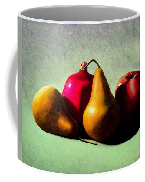 Still Life Coffee Mug featuring the painting Fruit Harvest by Frank Wilson