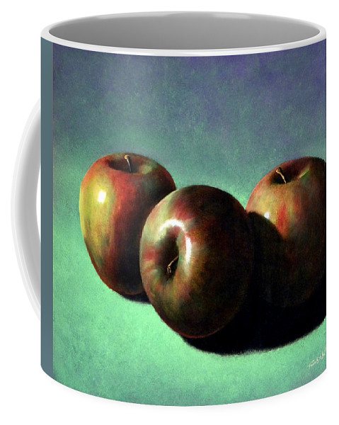 Still Life Coffee Mug featuring the painting Fuji Apples by Frank Wilson