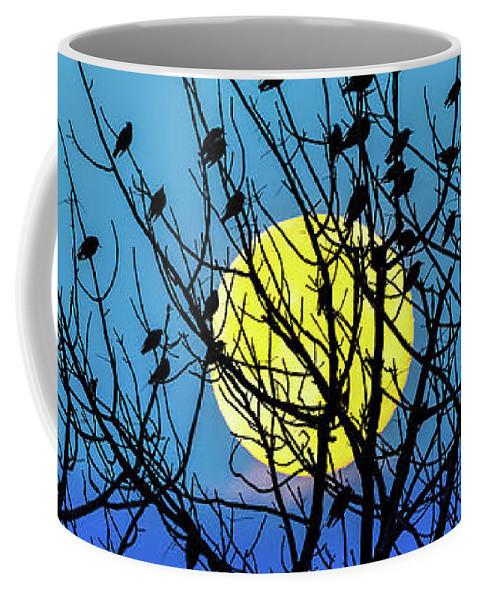 Landscape Coffee Mug featuring the photograph Full Moon by Bob Orsillo