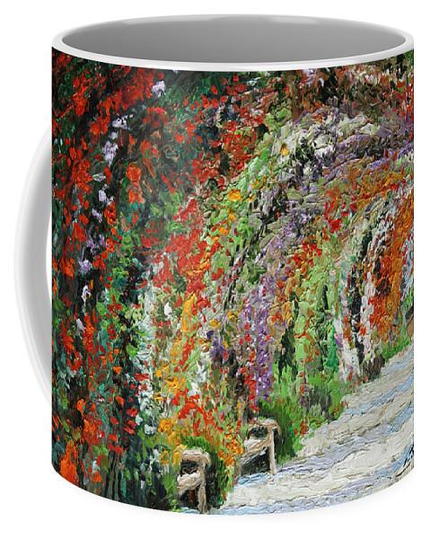 Oil Coffee Mug featuring the painting Germany Baden-Baden Rosengarten 01 by Yuriy Shevchuk